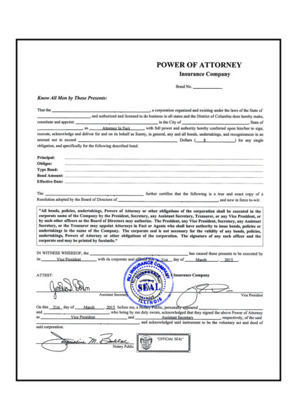 Traducción jurada: poder notarial