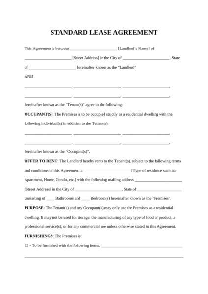 Traducción jurada: contrato de arrendamiento