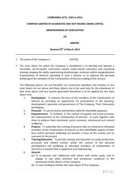 Traducción jurada: escritura de constitución